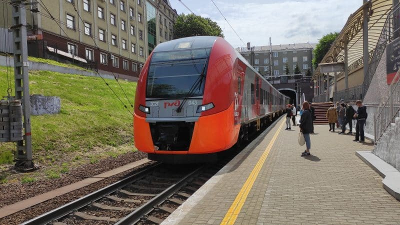 Северный вокзал Калининграда. Платформа номер 1