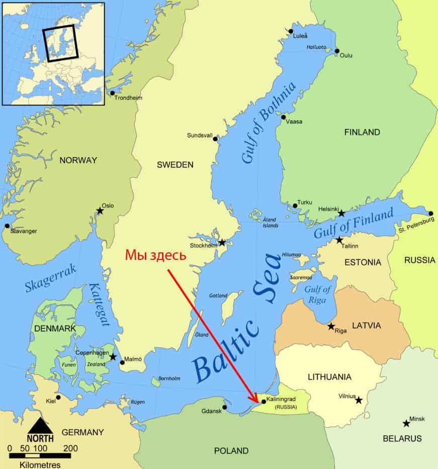 Калининград на Балтийском море