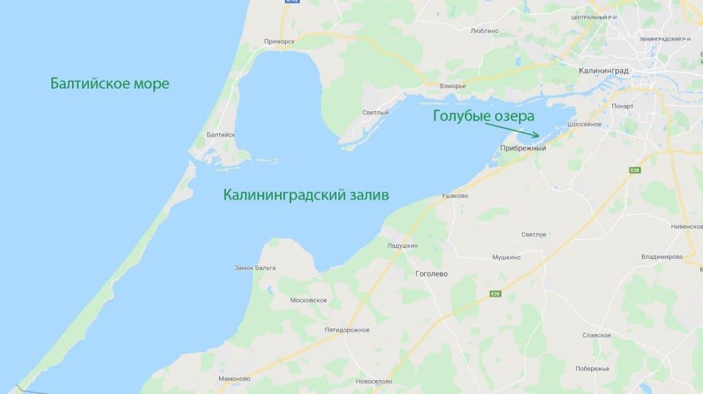 Карта Калининградского залива