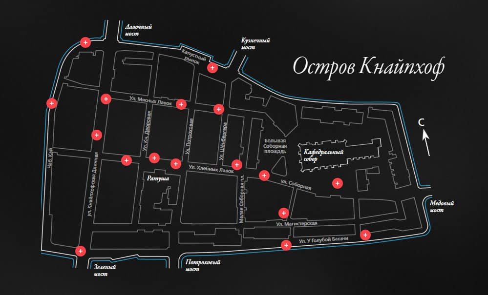 Карта острова Кнайпхоф