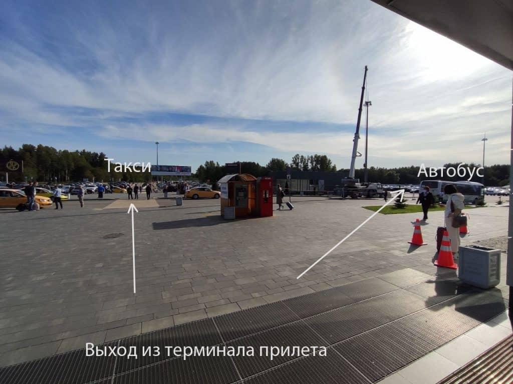 Как добраться в Калининград из Аэропорта. Расположение остановки