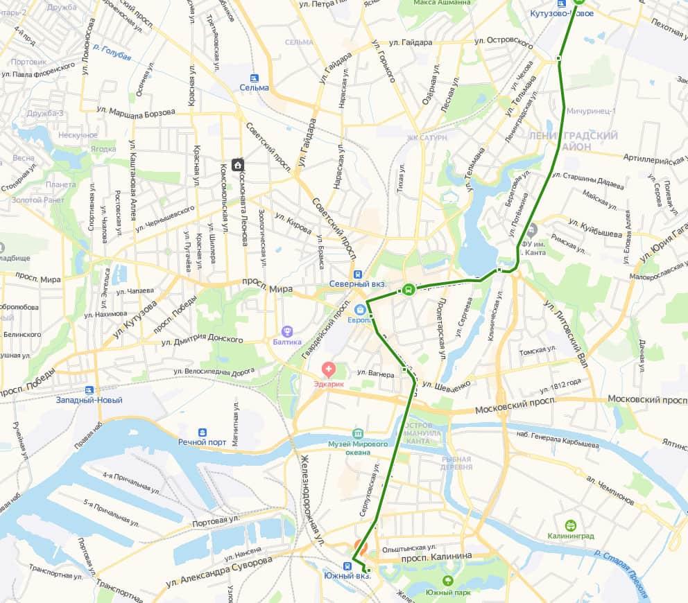 Автобус 244э маршрут из аэропорта в Калининград