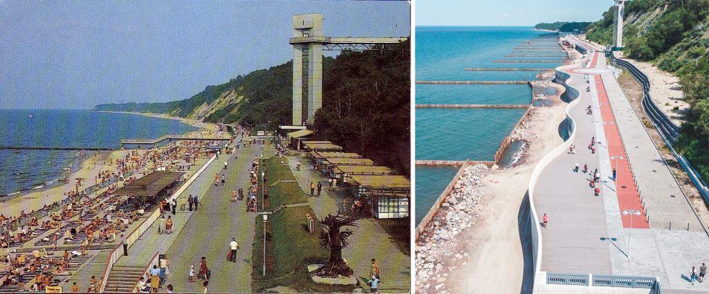Пляж Светлогорска в советское время и сейчас