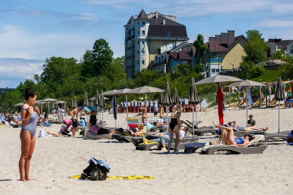 Западный пляж Зеленоградска